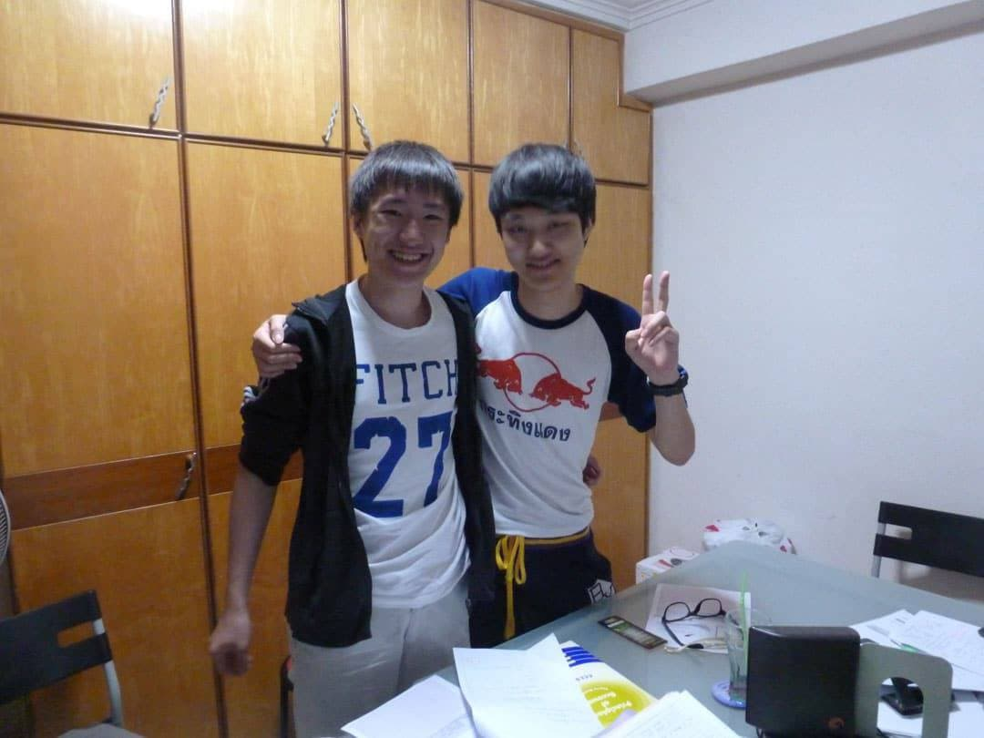 A Korean and An Indonesian student from Best POA