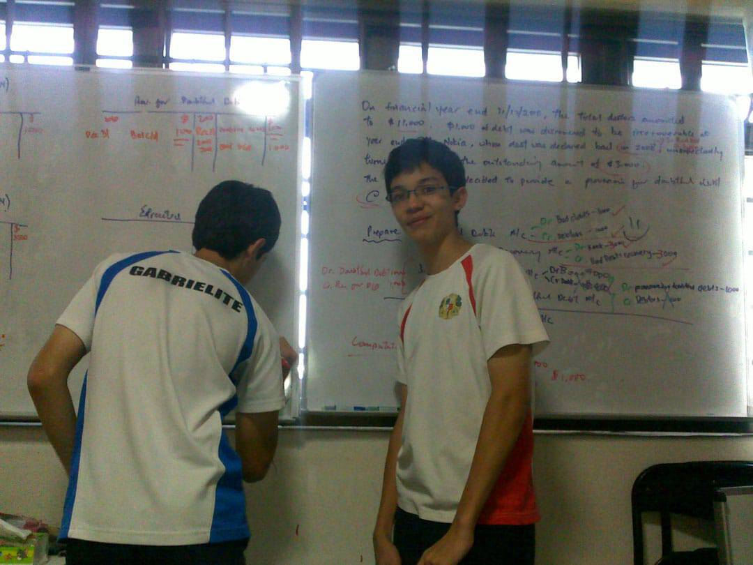 Photo of 2 boys from poa class