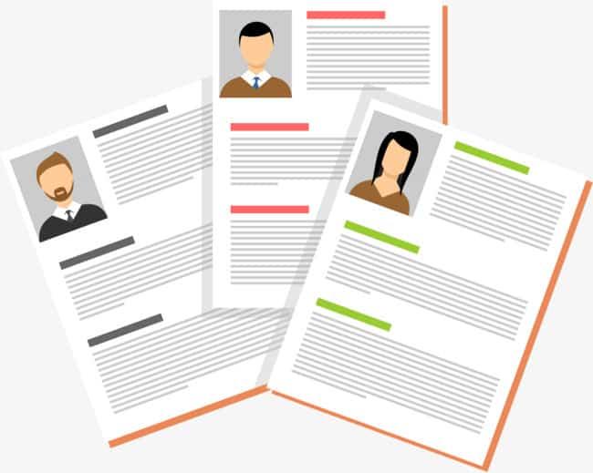 graphics of 3 person's profile